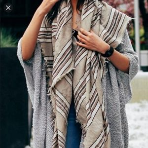 Aritzia Striped Blanket Scarf